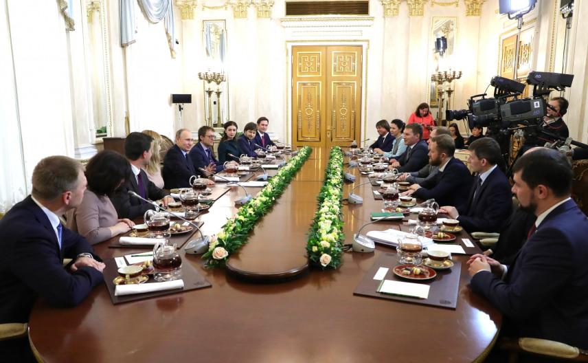 Владимир Путин встретился с «Лидерами России»