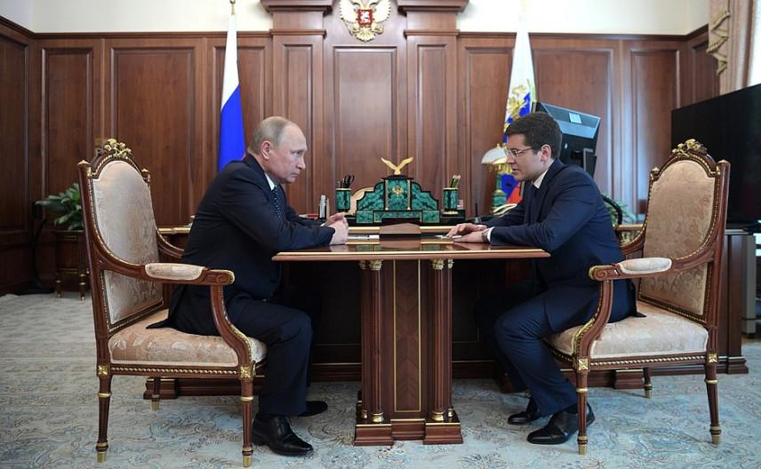 Владимир Путин встретился с врио губернатора ЯНАО Дмитрием Артюховым