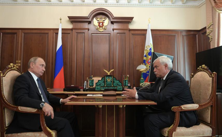 Президент принял отставку губернатора Санкт-Петербурга Георгия Полтавченко