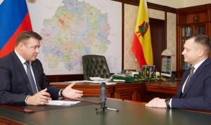 Губернатор Рязанской области проводит личные встречи с победителями конкурса управленческих кадров