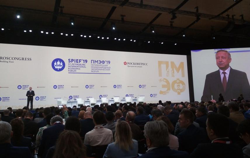 Врио губернатора Петербурга пожелал участникам ПМЭФ-2019 интересных дискуссий и прорывных идей