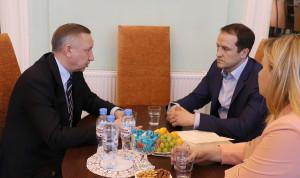 Победитель «Лидеров России» встретился с наставником – врио губернатора Петербурга