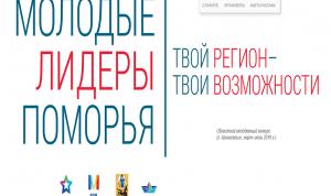 Победителей конкурса «Молодые лидеры Поморья» включат в МКР Архангельской области