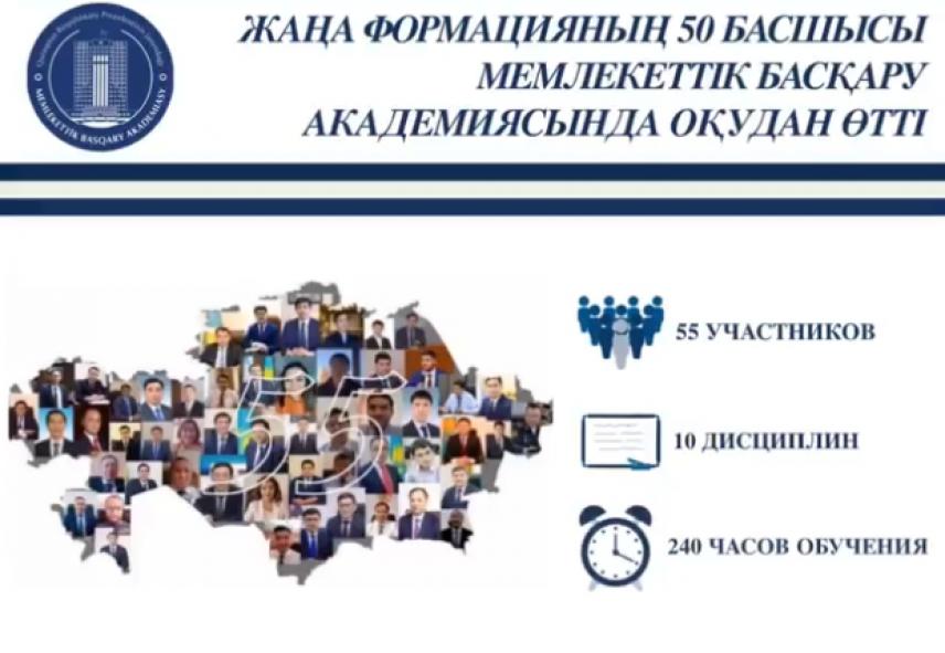 В Казахстане 50 госслужащих высшего звена стали руководителями новой формации