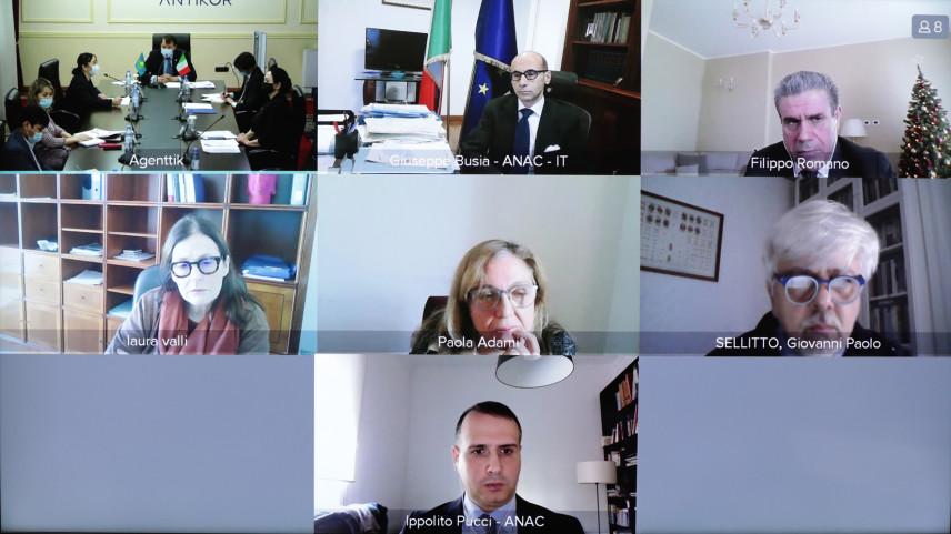 Главы антикоррупционных ведомств Италии  и Казахстана договорились о сотрудничестве
